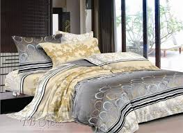 gray and gold bedding. Modren Gray 4 Piece Cotton Bedding Sets With Gold Tendril Stripe And Printed Circle  Pattern  Tbdress In Gray And L
