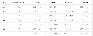 Number Size Chart Womens Sizing Chart Downeast