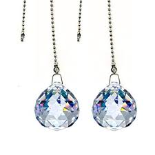 Fan Pull Chain Ornaments Simple Magnificent Crystal 60mm Clear Crystal Ball Prism 60 Pieces Dazzling