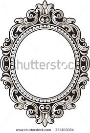 oval filigree frame tattoo. Vector Vintage Border Frame Engraving With Retro Ornament Pattern In Antique Rococo Style Decorative Design Oval Filigree Tattoo M