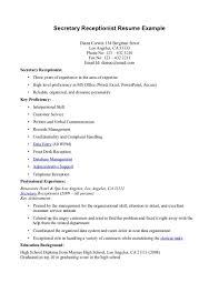 Receptionist Job Resume Resume Template Receptionist Job Description Resume Sample Free 71