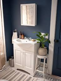 color works well with black and white tiles paint color portfolio dark blue bathrooms