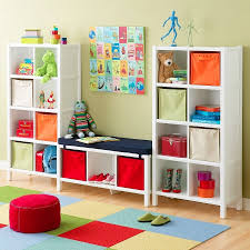 colorful kids furniture. Simple Colorful FurnitureColorful Kids Room Furniture Idea Double White Hardwood  Cabinet With Cube Shelves Colorful Canvas And