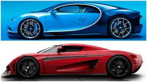 Bugatti chiron ss 300 mph vs. Supecars Bugatti Chiron Vs Koenigsegg Regera Autowise