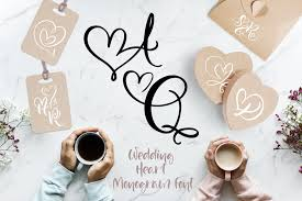 Download free wedding fonts for commercial and personal use. Wedding Heart Font By Happy Letters Creative Fabrica