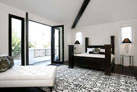 Bedroom Delightful Black White Modern Master Bedroom Design With