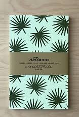 Palm Leaf Pattern Simple Worthwile Paper Notebook Palm Leaf Pattern Tart