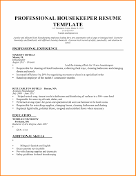 14 Housekeeping Resume Templates Boy Friend Letters