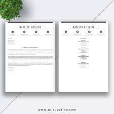 Modern Simple Resume Template Creative Cover Letter Creative Resume Template Cover Letter Word