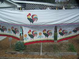Rooster Kitchen Curtains Lace Rooster Kitchen Curtains Cute Rooster Kitchen Curtains