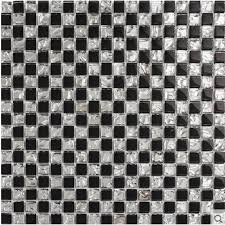 black and white crystal glass tiles backsplash for kitchen and bathroom silver glossy glass mosaic tile wall