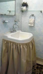 purple bathroom sink skirt ideas