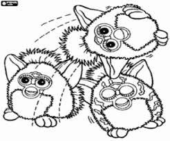 Kleurplaat Drie Grappige Furbys Kleurplaten