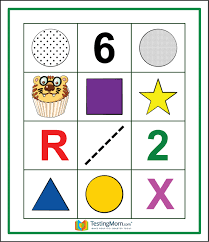 gifted testing flash cards following directions for grade 1 grade 2 educational toy practice for cogat
