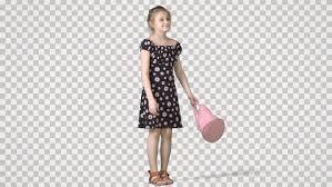 Girl Transparent Png Little Girl Stands With Handbag Stockvideos Filmmaterial 100