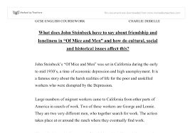what does john steinbeckhave to say about friendship and document image preview