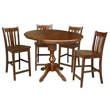 36 round counter height dining table with 12 leaf and 4 san counter height dining