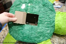 how to make a pull string pinata from a regular pinata ninja turtle style