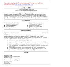 Resume For Flight Attendant Job Flight Attendant Resume Pdf Jane Smith Tips In Writing A Flight 10