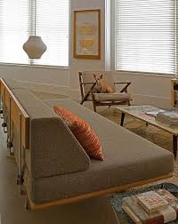 Modernica Case Study V Leg Day Bed Sofa w arms  Made in USA      The     case study daybed one arm