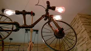 maso bicycle hanging chandelier lamp industrial vintage hanging pendant light real show part1