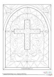 Stained Glass Coloring Page Stained Glass Window Coloring Pages