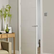 Open white internal fire door