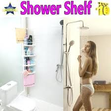 Telescopic Shower Corner Shelves Enchanting Caddy Corner Shelf Non Rust Bathroom Telescopic Corner Shelf Storage
