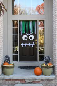 ... Good Looking Idea For Halloween Door Decoration Idea : Fetching Image  Of Front Porch Decoration Using ...