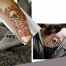 1 Plechová Hlava Lebky Velké Dočasné Tetování Wolf Rameno Nohy Tělo Tetování Papír Zábava Hračka At Vova
