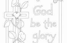 Kleurplaten Kleuren Nieuw Glory Of The Lord Coloring Page