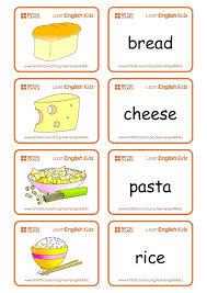 Food Flash Cards Flashcards Food Set 1