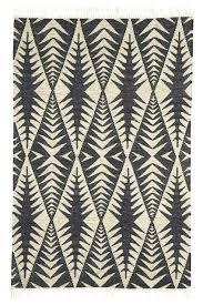 black and white kilim rug