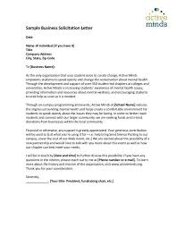 Solicitation Letter Sample Solicitation Letter For Financial Support Beauty Pageant How