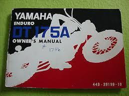 yamaha 175 enduro zeppy io 1974 vintage yamaha enduro dt175a oem owner s manual nice