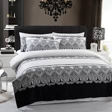 duvet cover queen king in free classic black and white bedding sets
