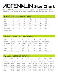 Men S Wearhouse Size Chart Size Guides Wetsuit Warehouse