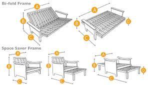 futon mattress sizes. Santa Cruz Wood Futon Frame Java The Shop Rh Thefutonshop Com Futon  Mattress Size Chart Assembling A Frame Mattress Sizes