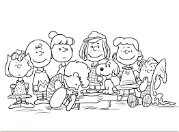 Peanuts Coloring Pages Book Also New Charlie Brown Printable