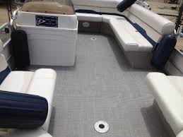pontoon boat with flooring