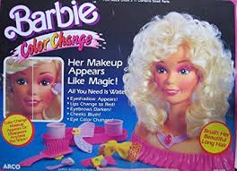 barbie color change playset her make up appears like magic 1989 arco