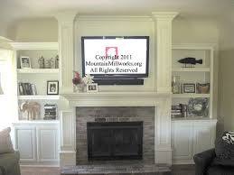 mounting tv above brick fireplace the 25 best ideas about tv over fireplace on tv