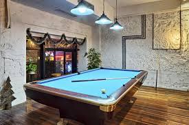 pool room lighting. Snooker Table With Cyan Lighting Pool Room