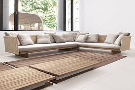 outdoor patio furniture sectional wood wood outdoor sectional o6