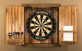 Dart Board Cabinet With Chalkboard Natural Rustic Dartboard Cabinet Reclaimed Barn Wood Home