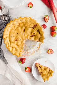 gluten free strawberry rhubarb pie a