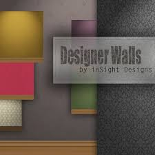 Small Picture Second Life Marketplace 30 Designer walls with wallpaper
