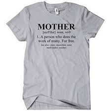 Textual Tees Size Chart Mother Defined Funny T Shirt Mothers Day Gift Mom Tee