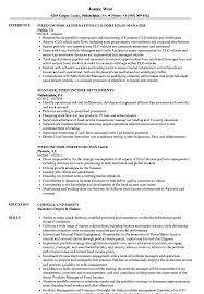 Manager Fixed Income Resume Samples Velvet Jobs