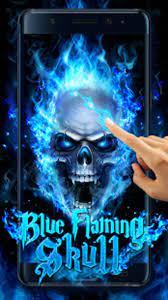 Blue Fire Skull Live Wallpaper APK for ...